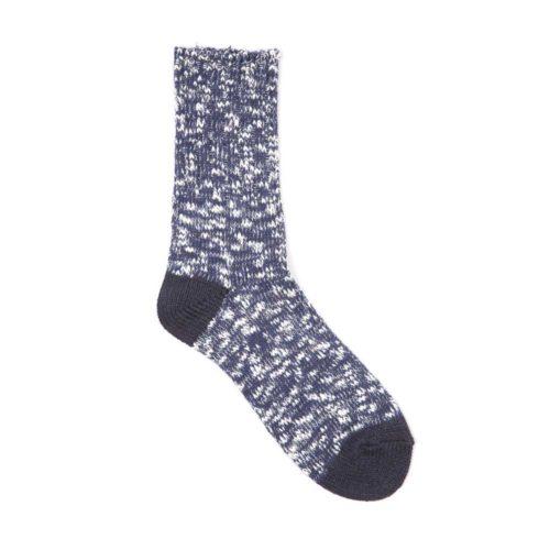Fullcount Navy/Dark Navy Cotton Socks