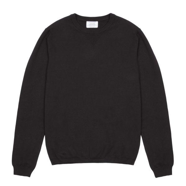 Black Cotton/Cashmere Jumper
