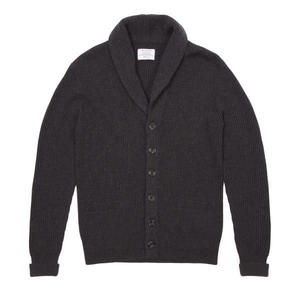 Shawl Collar Wool Cardigan