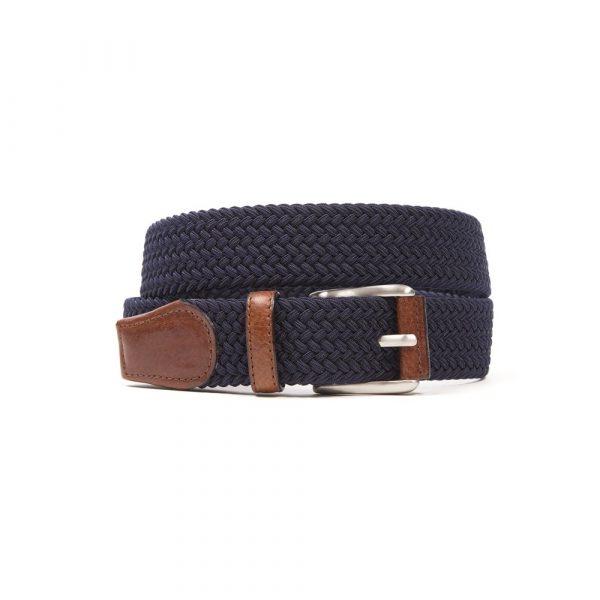 Navy Woven Elasticated Belt