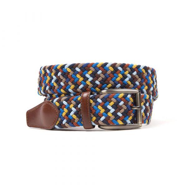 Blue Multi Colour Woven Belt