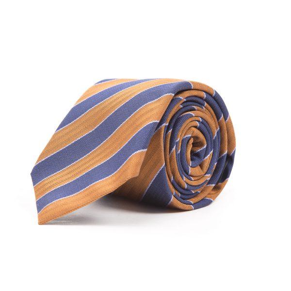 Orange and Blue Club Stripe Tie
