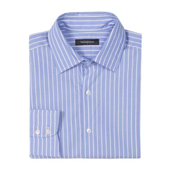 The Everest Blue/White Block Stripe Shirt
