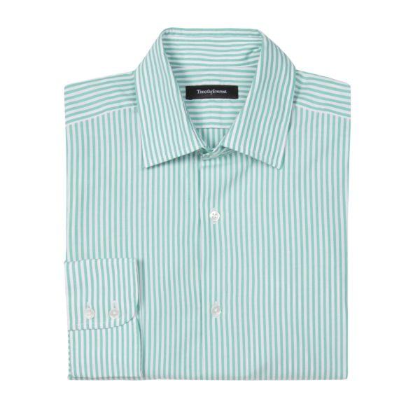 The Everest Mint Green Bengal Stripe Shirt