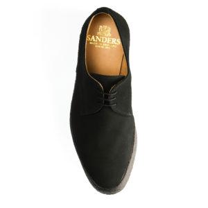 Sanders Lo-Top Black Suede Shoes