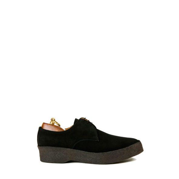 Sanders-Lo-Top-Black-Suede-Shoes
