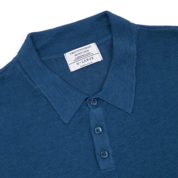 The Moroccan Blue Short Sleeved Linen Polo