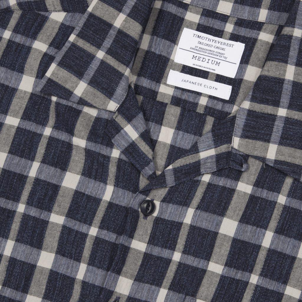 Indigo Check Cuban Shirt