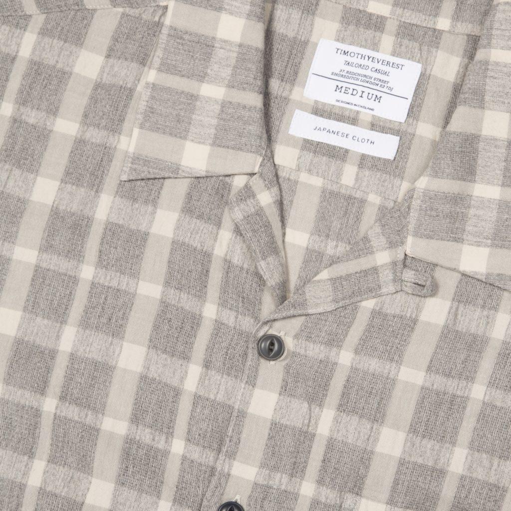 Grey Check Cuban Shirt