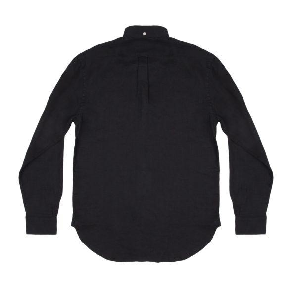 Black Linen Pen Pocket Shirt