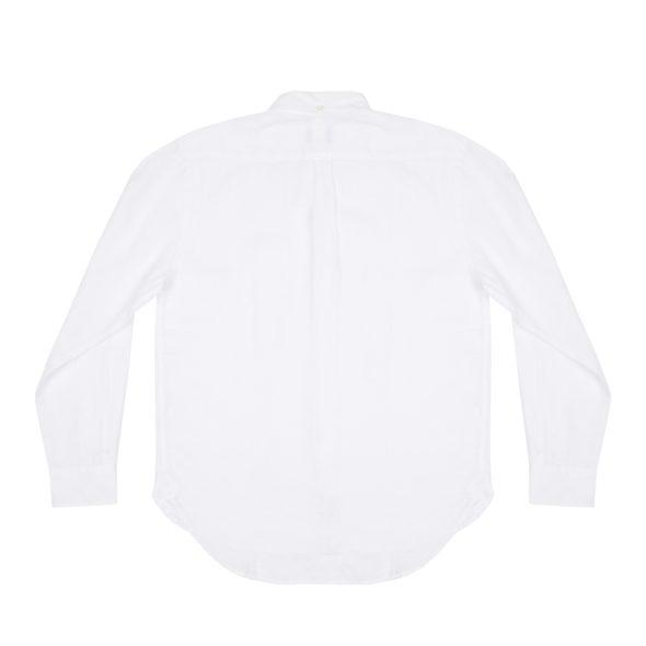 White Linen Pen Pocket Shirt