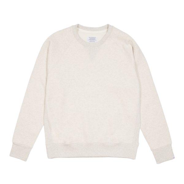 Cream Brushed Terry Raglan Sweatshirt