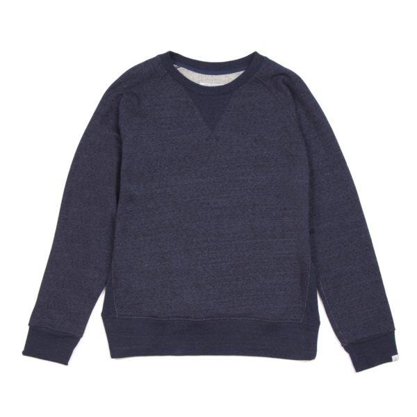 Indigo Loopback Raglan Sweatshirt