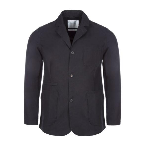 Black Cotton Utility Blazer