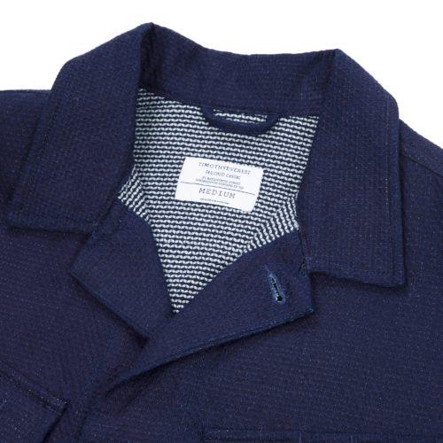 Indigo Cotton Safari Overshirt