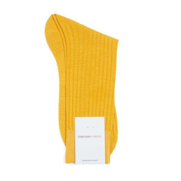 Ochre Coloured Cotton Socks