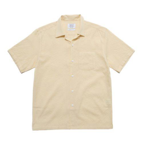 Pale Daffodil Striped Cuban Shirt