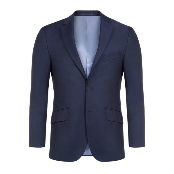 2 Piece Navy Blue Wool Mohair Suit