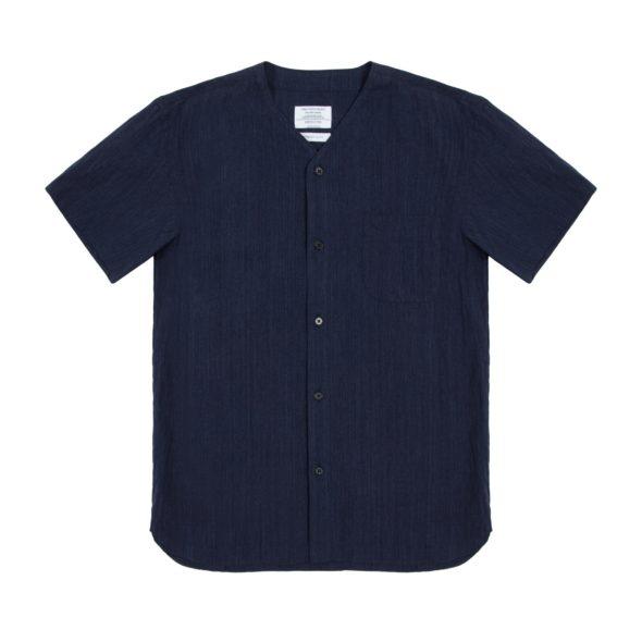 Indigo Short Sleeved Dugout Shirt