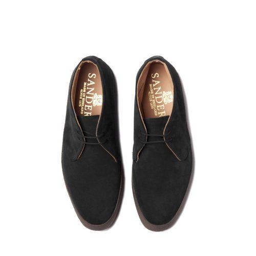 Sanders Hi Top Black Suede Chukka Boots