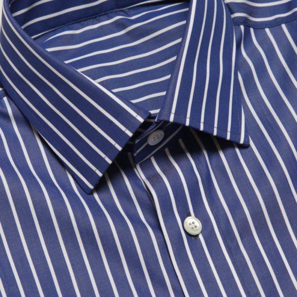 Blue Block Stripe Mayfair Shirt