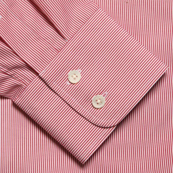 Red Fine Stripe Cotton Mayfair Shirt