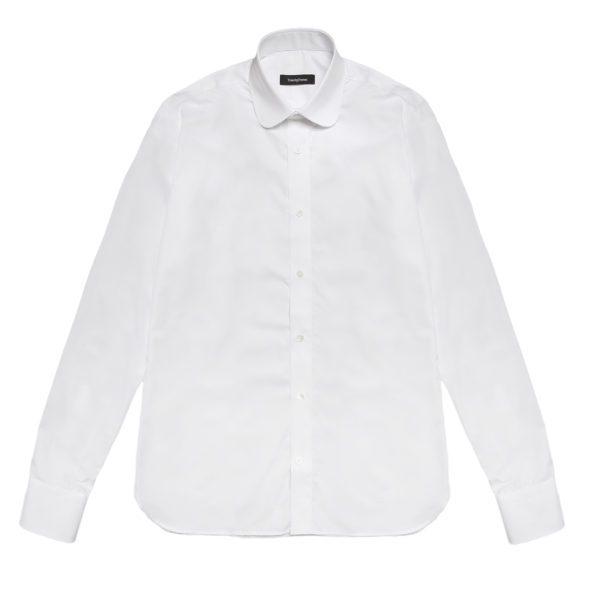 White Poplin Cotton Mayfair Shirt
