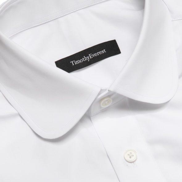 White Poplin penny collar Mayfair Shirt