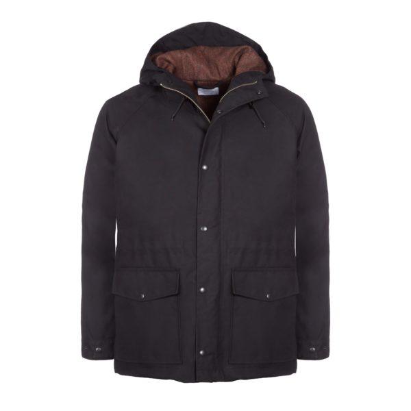 Black Waxed Cotton Mariner Jacket