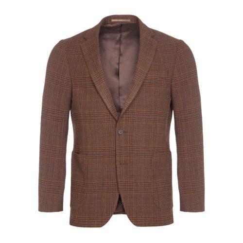 Brown Check Wool Seersucker Hoxton Blazer