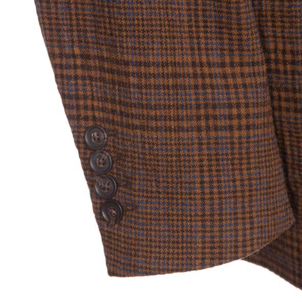 Brown Check Wool Seersucker Hoxton Blazer_1