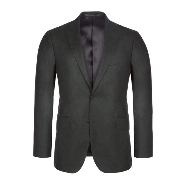 Green Super 120's Flannel Wool 2 Piece Suit