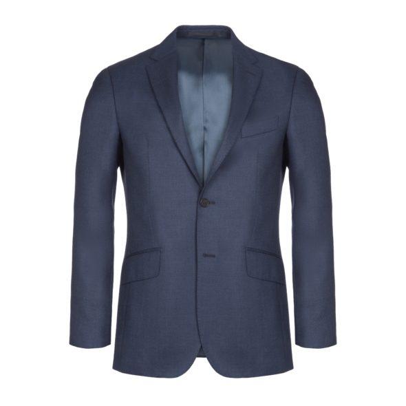 Navy Birdseye Wool 2 Piece Suit