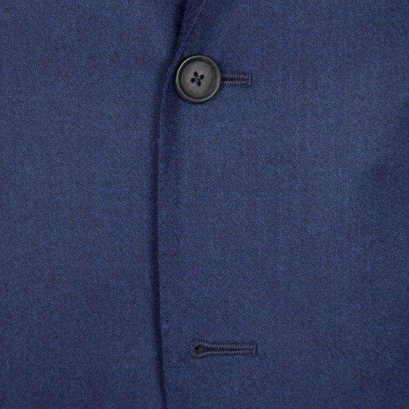 Navy Super 120's Flannel Wool 2 Piece Suit