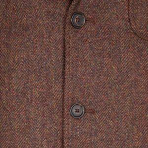 Rust Herringbone Tweed Simplon Jacket