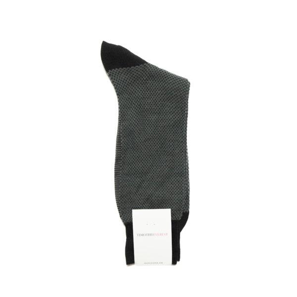 Black Pattern Cotton Socks
