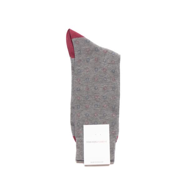 Mid Grey Cotton Socks