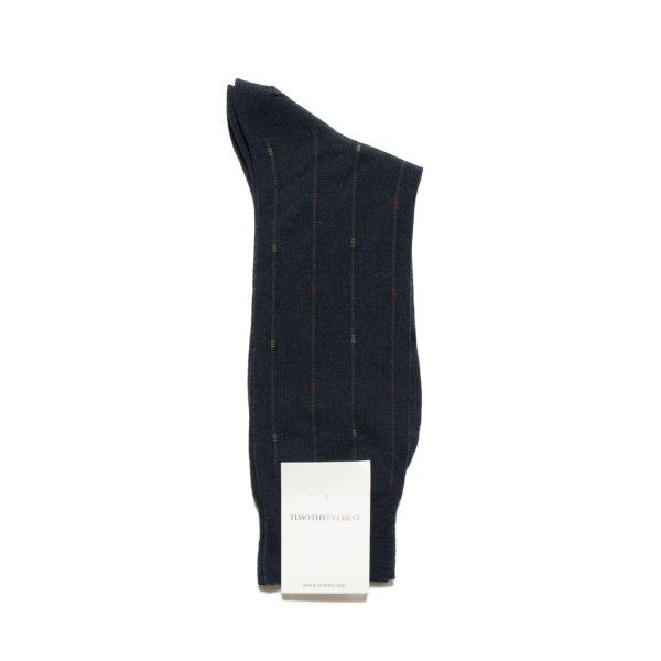 Navy Blue Cotton Socks