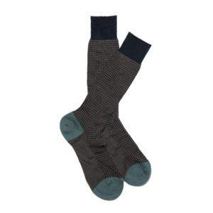 Navy Patterned Cotton Sock