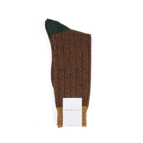 Conker Coloured Sock