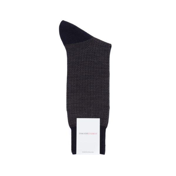 Navy Blue Patterned Socks