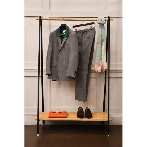 Grey Wool Fresco Suit Jacket