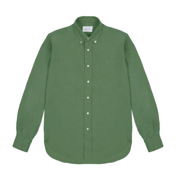 Green Linen Redchurch Shirt