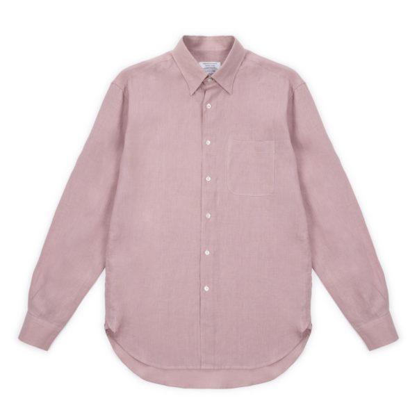 Lilac Washed Linen Hoxton Shirt