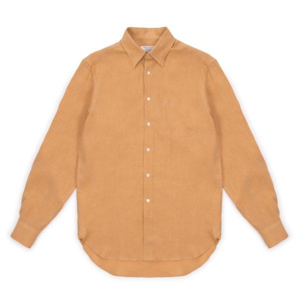 Melon Washed Linen Hoxton Shirt