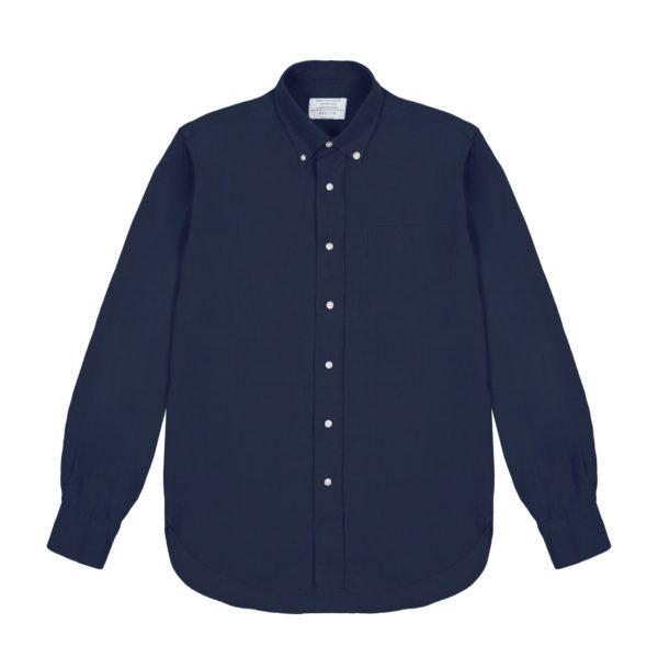 Navy Blue Heavy Linen Redchurch Shirt