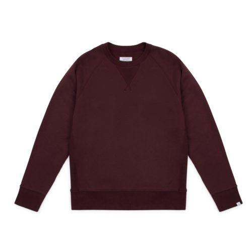 Wine Brushed Terry Raglan Sweatshirt