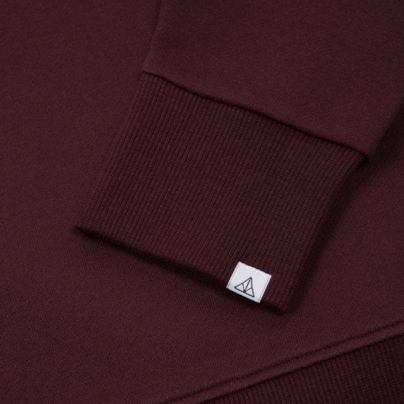 Timothy-Everest-Wine Brushed Terry Raglan Sweatshirt