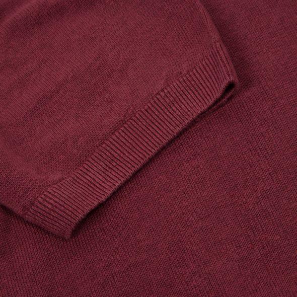 Plum Linen Short Sleeved Polo