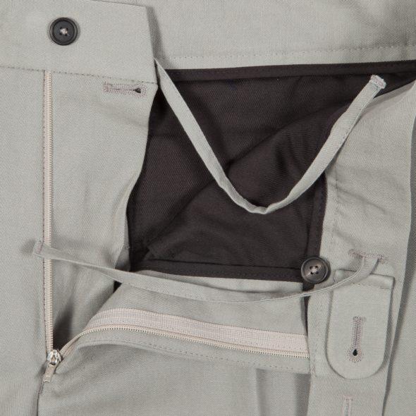 Grey Cotton Linen Blend Drawstring Trousers
